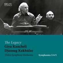 Giya Kancheli (1935-2019): Symphonien Nr.3-5, 2 CDs