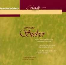 Ignazio Sieber (1680-1757): 6 Sonaten für Blockflöte & Bc, CD
