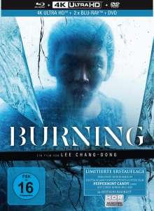 Burning (Ultra HD Blu-ray & Blu-ray & DVD im Mediabook), 1 Ultra HD Blu-ray, 2 Blu-ray Discs und 1 DVD