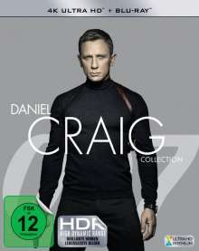 Daniel Craig Collection (Ultra HD Blu-ray & Blu-ray), 4 Ultra HD Blu-rays und 4 Blu-ray Discs