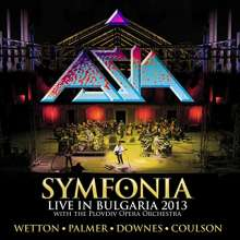 Asia: Symfonia: Live In Bulgaria 2013 (Blue And Yellow Translucent Vinyl), 2 LPs