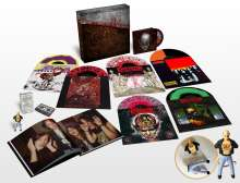 Kreator: Under The Guillotine: The Noise Records Anthology (Deluxe Box Set) (Colored Splattered Vinyl), 6 LPs, 1 MC, 1 DVD, 1 USB-Stick und 1 Buch