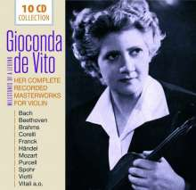 Gioconda De Vito - Her Complete Recorded Masterworks for Violin, 10 CDs