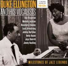 Duke Ellington (1899-1974): Duke Ellington And His Vocalists - Milestones Of Jazz Legends (11 Original Albums), 10 CDs