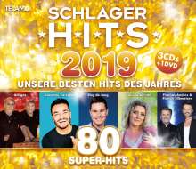 Schlager Hits 2019, 4 CDs