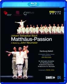Johann Sebastian Bach (1685-1750): Matthäus-Passion BWV 244 (als Ballett-Version von John Neumeier), 2 Blu-ray Discs