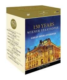 150 Jahre Wiener Staatsoper - Great Opera Evenings, 11 DVDs