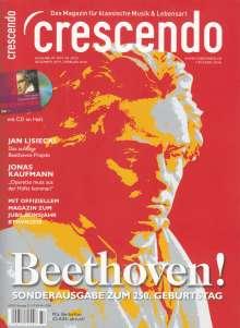 """Crescendo - BEETHOVEN! Sonderausgabe zum 250. Geburtstag + CD """"Beethoven-DG-Sampler: Werkausgabe"""", Zeitschrift"""