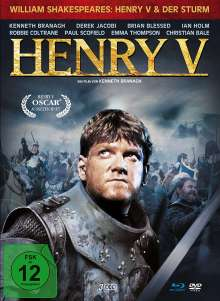 Henry V. / Der Sturm (Blu-ray & DVD im Mediabook), 1 Blu-ray Disc und 2 DVDs