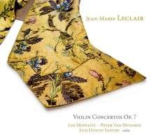 Jean Marie Leclair (1697-1764): Violinkonzerte op.7 Nr.1,2,4-6, CD