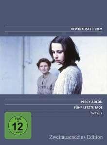 Fünf letzte Tage, DVD