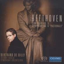 Ludwig van Beethoven (1770-1827): Symphonien Nr.5 & 6, Super Audio CD