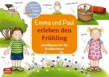 Monika Lehner: Emma und Paul erleben den Frühling. Spielfiguren für die Erzählschiene, 1 Buch und 1 Diverse