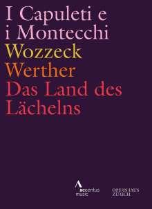 Vier Opern aus dem Opernhaus Zürich, 4 DVDs