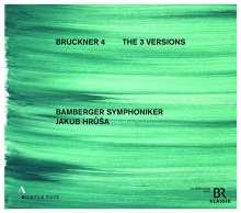 Anton Bruckner (1824-1896): Symphonie Nr.4 (Die 3 Versionen), 4 CDs