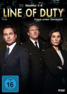 Line of Duty Staffel 1-4, 9 DVDs