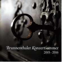 Brunnenthaler Konzertsommer 2015 / 2016, 2 CDs