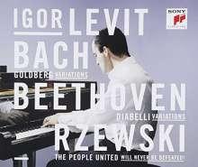 Igor Levit - Bach, Beethoven, Rzewski (Blue-spec-CD), 3 CDs