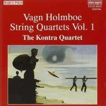 Vagn Holmboe (1909-1996): Streichquartette Nr.1,3,4, CD