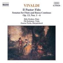 """Antonio Vivaldi (1678-1741): 6 Flötensonaten op.13 """"Pastor Fido"""" (RV 54-59), CD"""