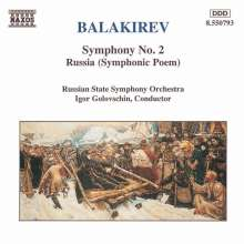 Mily Balakireff (1837-1910): Symphonie Nr.2, CD