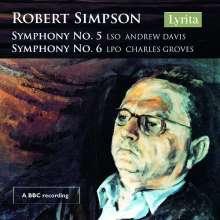 Robert Simpson (1921-1997): Symphonien Nr.5 & 6, CD