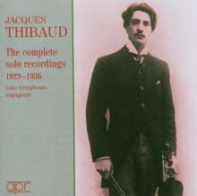 Jacques Thibaud - The complete solo recordings 1929-1936, 2 CDs