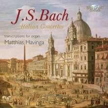 Johann Sebastian Bach (1685-1750): Konzerte f.Orgel BWV 592-594,596,974, CD