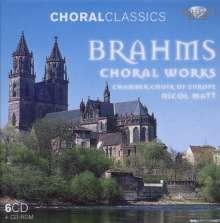Johannes Brahms (1833-1897): Sämtliche Chorwerke, 6 CDs