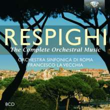 Ottorino Respighi (1879-1936): Sämtliche Orchesterwerke, 8 CDs