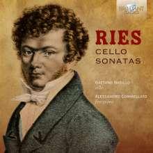 Ferdinand Ries (1784-1838): Cellosonaten opp.20,21,125, CD