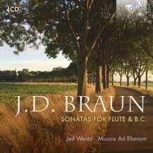 Jean Daniel Braun (1703-1738): Kammermusik für Flöte, 4 CDs