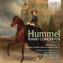 Johann Nepomuk Hummel (1778-1837): Klavierkonzerte Vol.2, CD