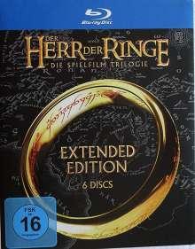 Der Herr der Ringe: Die Trilogie (Extended Edition) (Blu-ray), 6 Blu-ray Discs