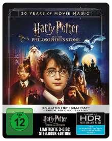 Harry Potter und der Stein der Weisen (Jubiläumsedition inkl. Magical Movie Mode) (Ultra HD Blu-ray & Blu-ray im Steelbook), 1 Ultra HD Blu-ray und 2 Blu-ray Discs