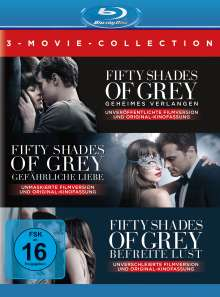 Fifty Shades of Grey 1-3 (3 Movie Collection) (Blu-ray), 3 Blu-ray Discs