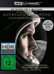 Aufbruch zum Mond (Ultra HD Blu-ray & Blu-ray), 1 Ultra HD Blu-ray, 1 Blu-ray Disc und 1 DVD
