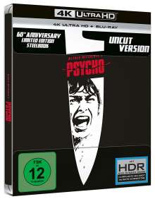 Psycho (1960) (Ultra HD Blu-ray & Blu-ray im Steelbook), 1 Ultra HD Blu-ray und 1 Blu-ray Disc