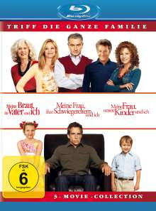Meine Braut, ihr Vater und ich / Meine Frau, ihre Schwiegereltern und ich / Meine Frau, unsere Kinder und ich (Blu-ray), 3 Blu-ray Discs