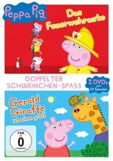 Peppa Pig: Das Feuerwehrauto / Gerald Giraffe ist schon groß, 2 DVDs