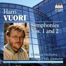 Harri Vuori (geb. 1957): Symphonien Nr.1 & 2, CD