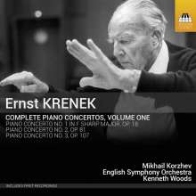 Ernst Krenek (1900-1991): Sämtliche Klavierkonzerte Vol.1, CD