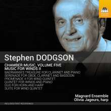 Stephen Dodgson (1924-2013): Kammermusik Vol.5 - Musik für Bläser II, CD
