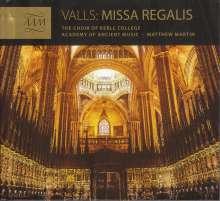 Francisco Valls (1671-1747): Tonos Regalis, CD