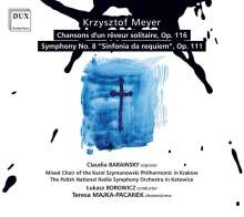 """Krzysztof Meyer (geb. 1943): Symphonie Nr.8 """"Sinfonia da requiem"""", CD"""