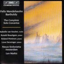 Felix Mendelssohn Bartholdy (1809-1847): Sämtliche Solokonzerte, 4 CDs