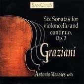 Carlo Graziani (1725-1787): Sonaten für Cello & Bc op.3 Nr.1-6, 2 CDs