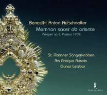 Benedict Anton Aufschnaiter (1665-1742): Vesper op.5 (Passau, 1709), CD