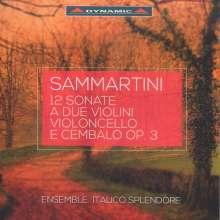 Giuseppe Sammartini (1695-1750): Sonaten für 2 Violinen, Cello & Cembalo op.3 Nr.1-12, 2 CDs