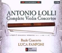 Antonio Lolli (1725-1802): Violinkonzerte Nr.1-9, 3 CDs